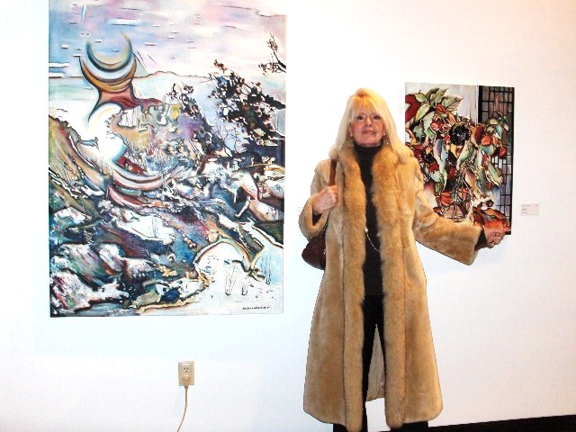 At Two Rivers Gallery IN FRONT OF MY WORKS