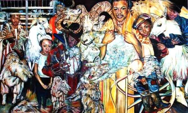 CELEBRATION - 60 X 96 INCHES - OIL ON ROLLED CANVAS - Copy